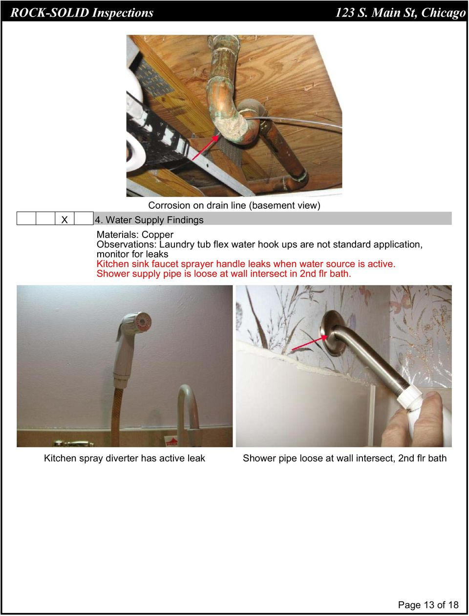 application, monitor for leaks Kitchen sink faucet sprayer handle leaks when water source is active.