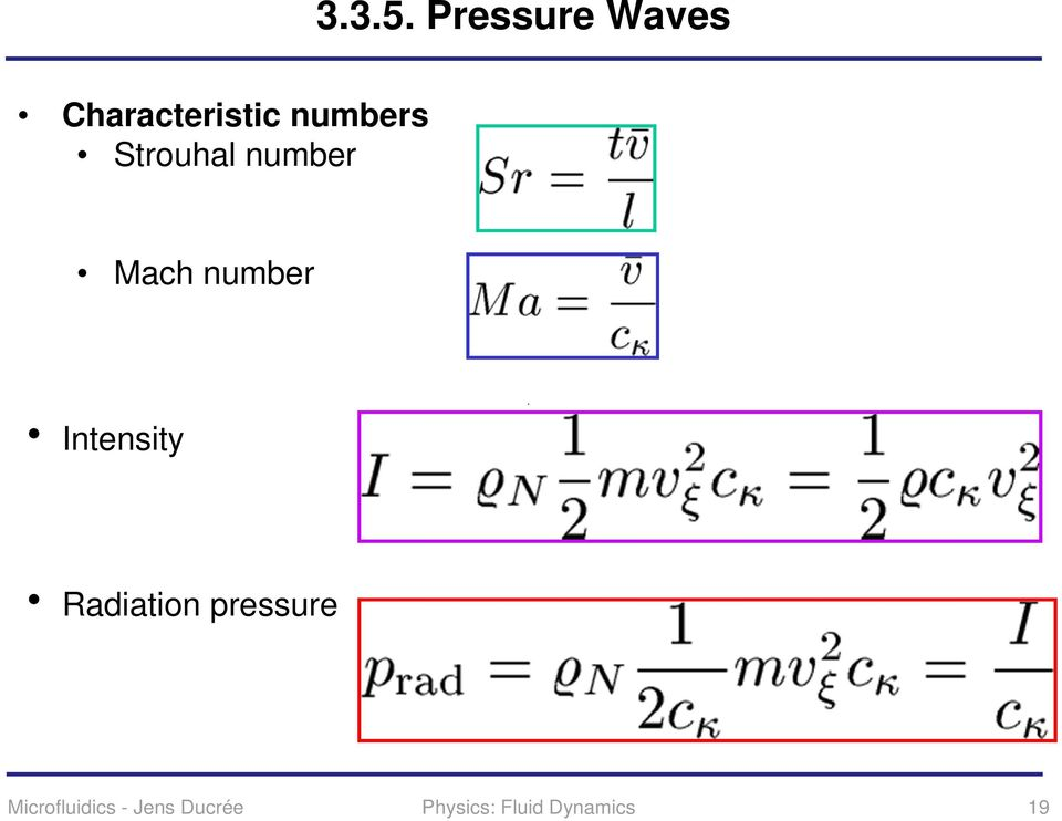 Strouhal number Mach number Intensity