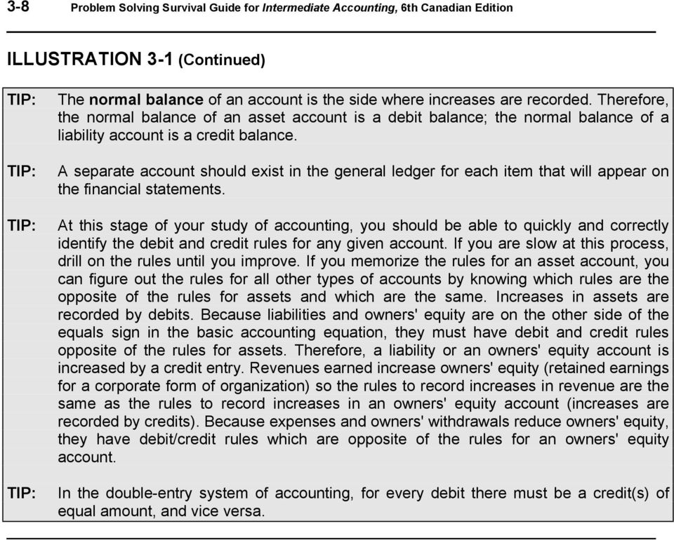 A separate account should exist in the general ledger for each item that will appear on the financial statements.