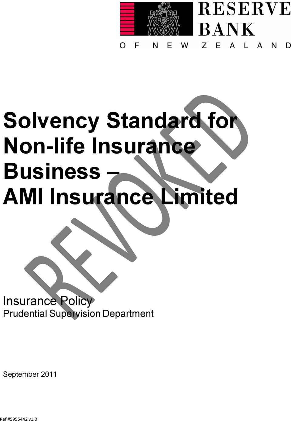 Limited Insurance Policy
