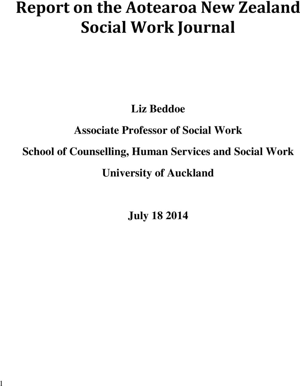 Social Work School of Counselling, Human