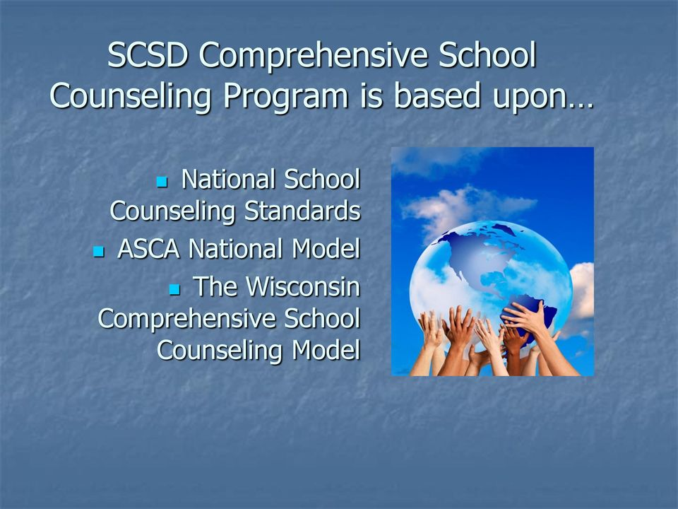 Counseling Standards ASCA National Model