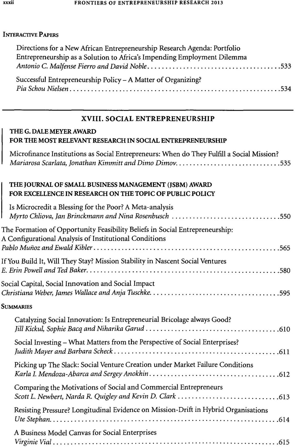 FRONTIERS RESEARCH PROCEEDINGS OF THE THIRTY-THIRD ANNUAL
