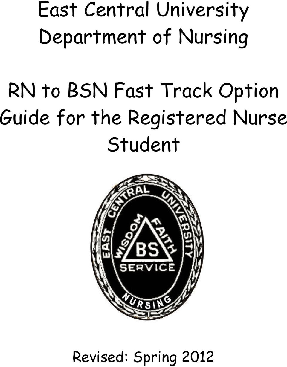 Fast Track Option Guide for the