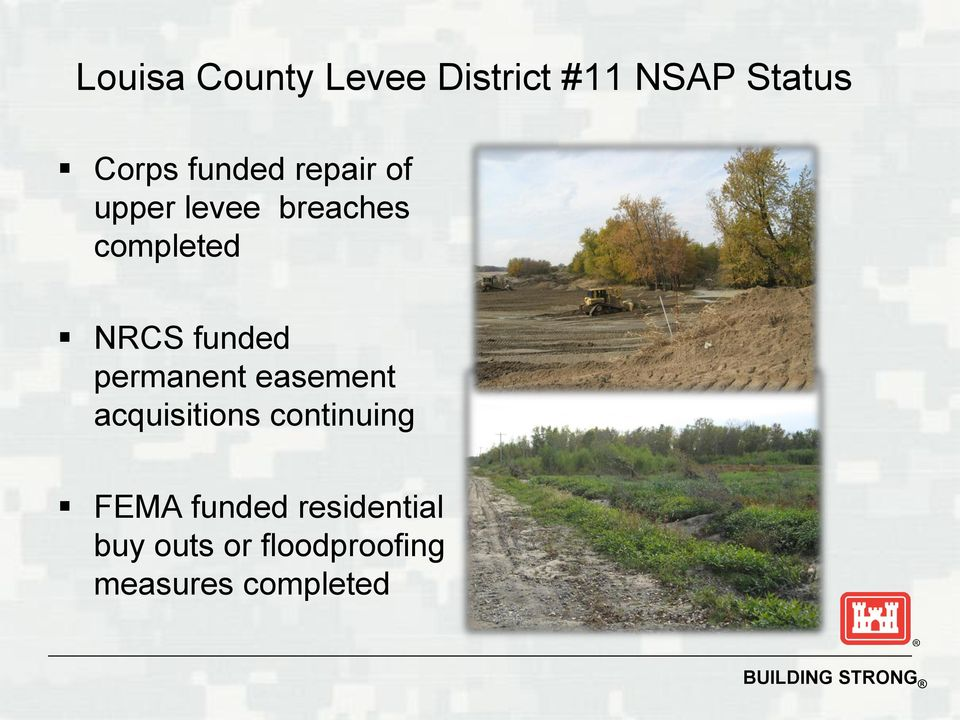 funded permanent easement acquisitions continuing FEMA