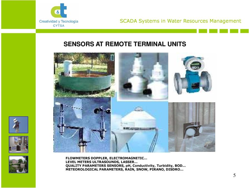 QUALITY PARAMETERS SENSORS, ph, Conductivity,