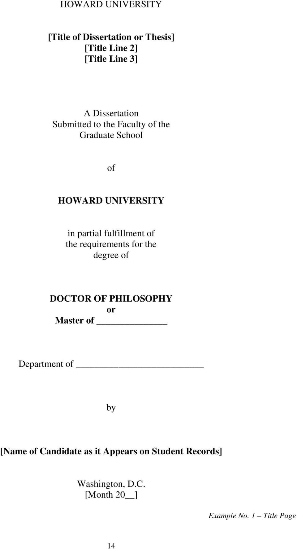 the requirements for the degree of DOCTOR OF PHILOSOPHY or Master of Department of by [Name of
