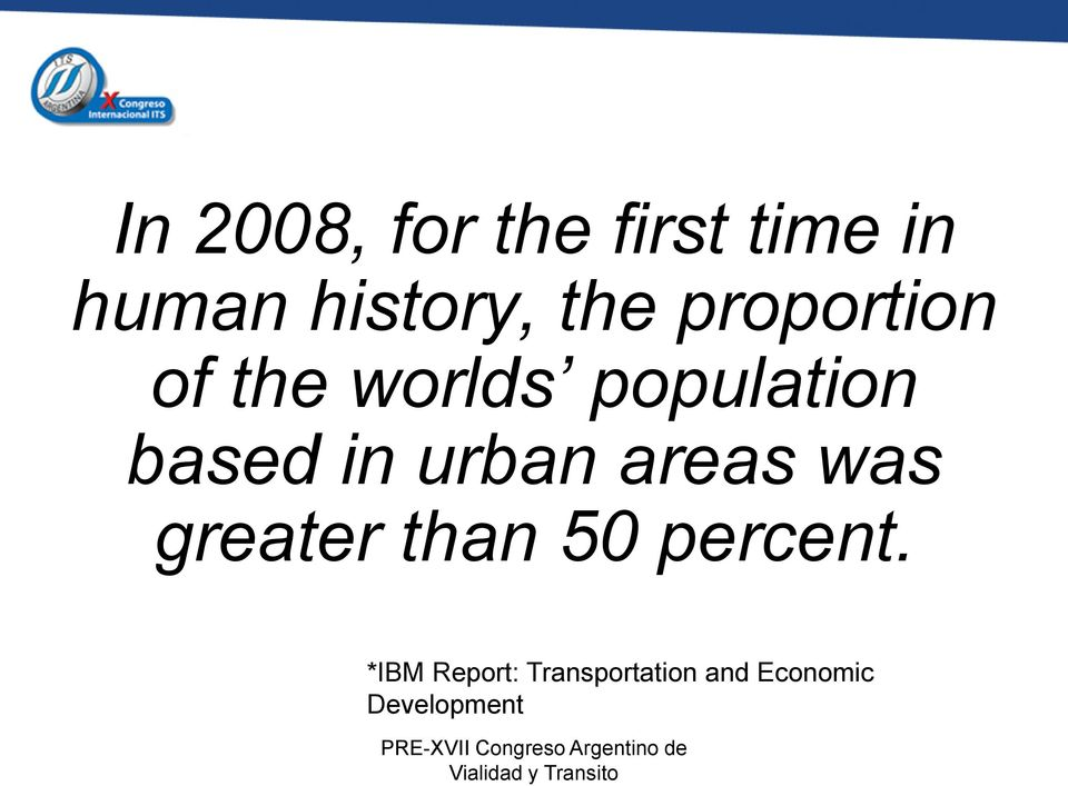 in urban areas was greater than 50 percent.