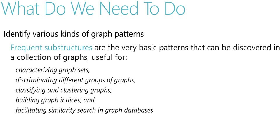 characterizing graph sets, discriminating different groups of graphs, classifying and