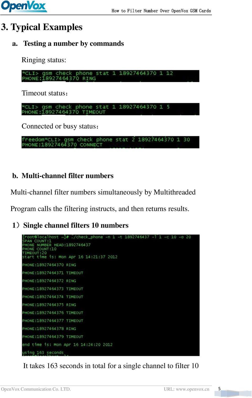 Multi-channel filter numbers Multi-channel filter numbers simultaneously by Multithreaded Program calls
