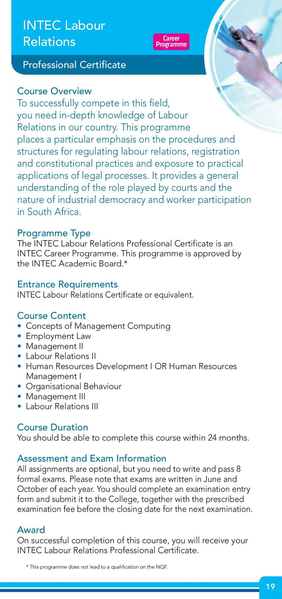 processes. It provides a general understanding of the role played by courts and the nature of industrial democracy and worker participation in South Africa.