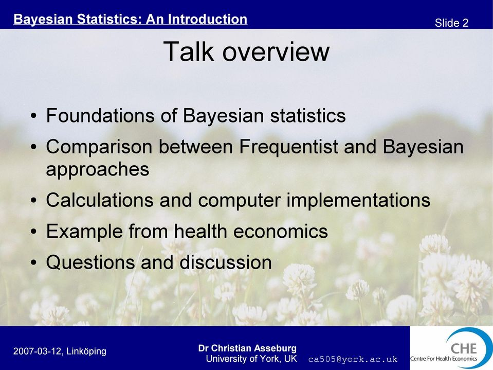 Bayesian approaches Calculations and computer