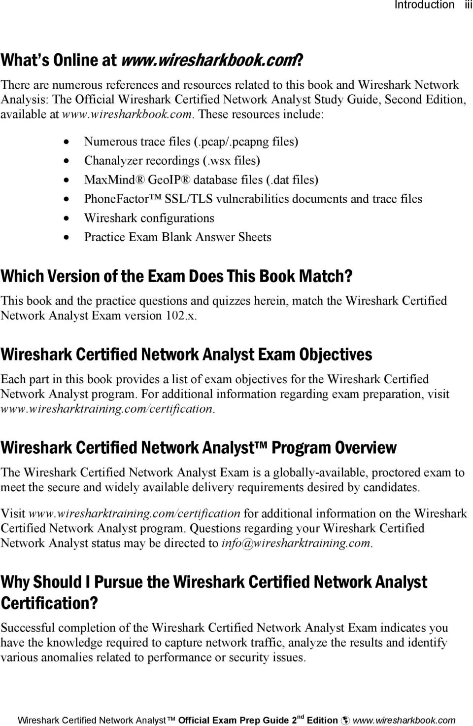 Wireshark Certified Network Analyst Official Exam Prep Guide Second