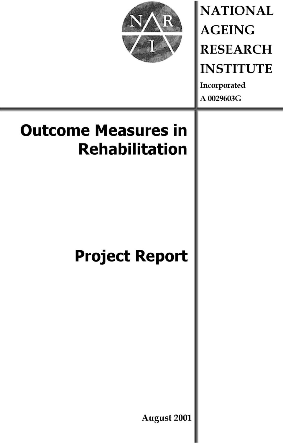 0029603G Outcome Measures in