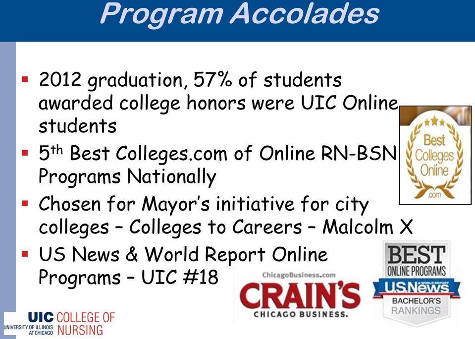 com of Online RN-BSN Programs Nationally Chosen for Mayor s initiative
