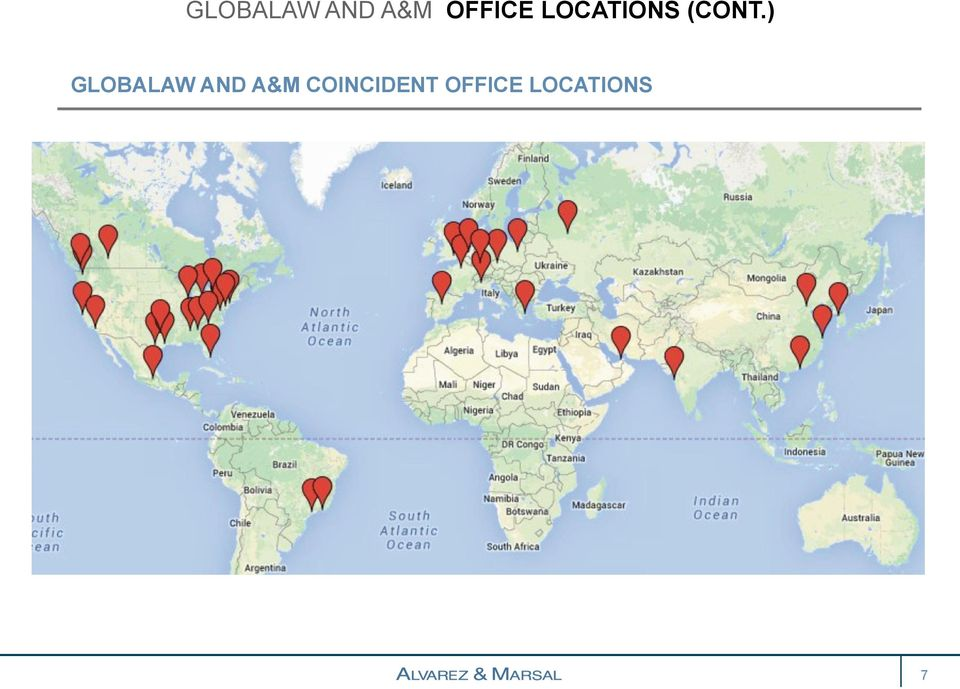 has offices in nearly 200 locations worldwide, A&M has 45.