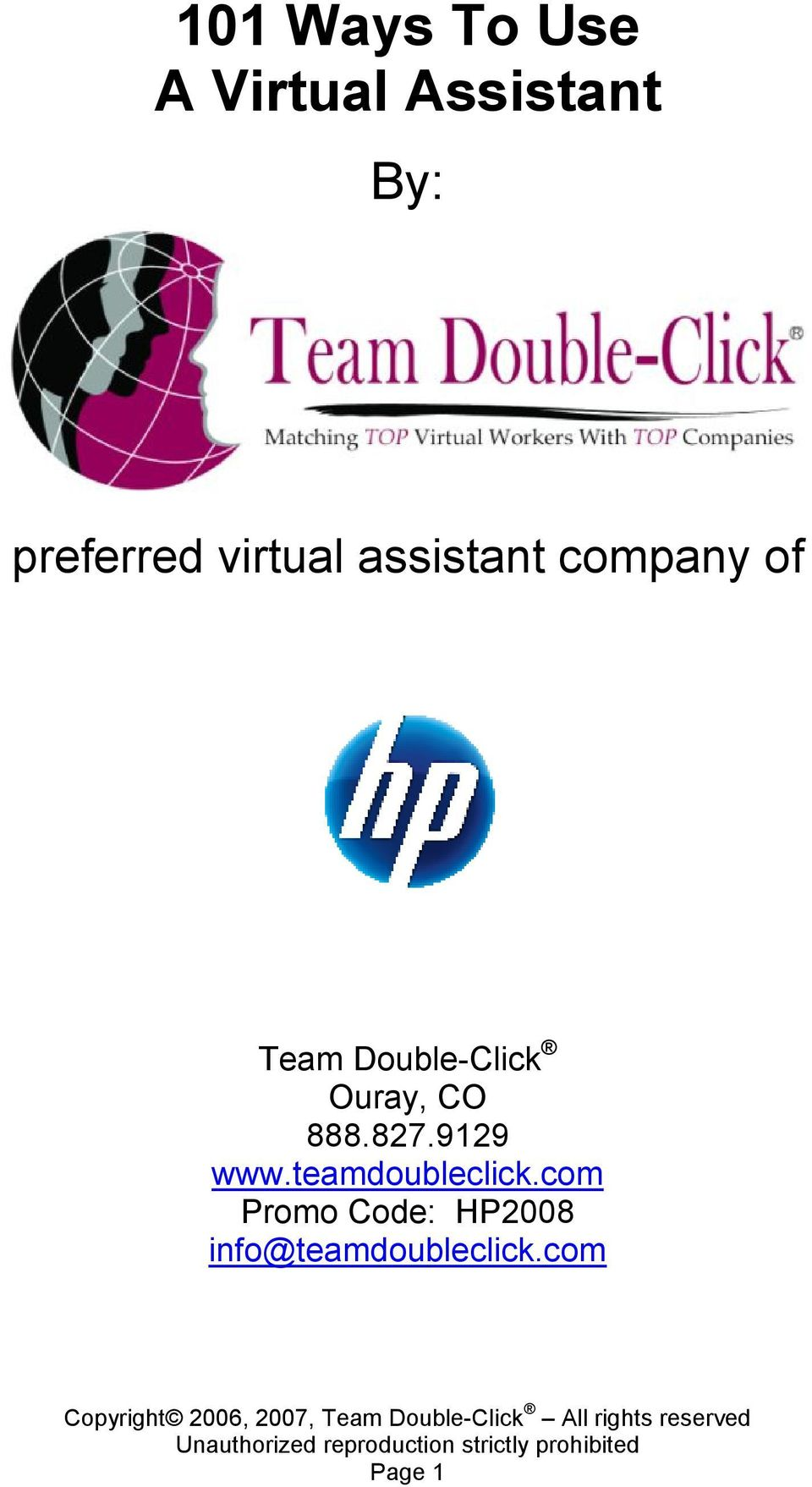 Double-Click Ouray, CO 888.827.9129 www.