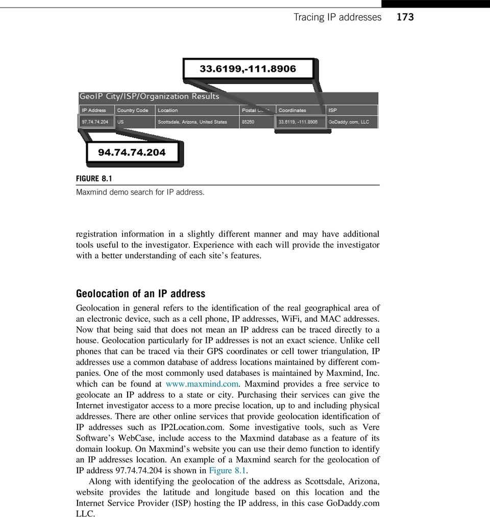 Tracing IP Addresses Through the Internet - PDF