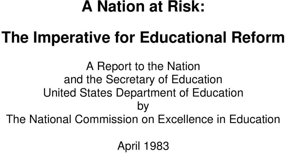 Education United States Department of Education by