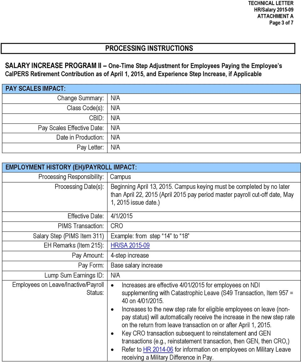 Date April 8 2015 Code Technical Letter Hr Salary From