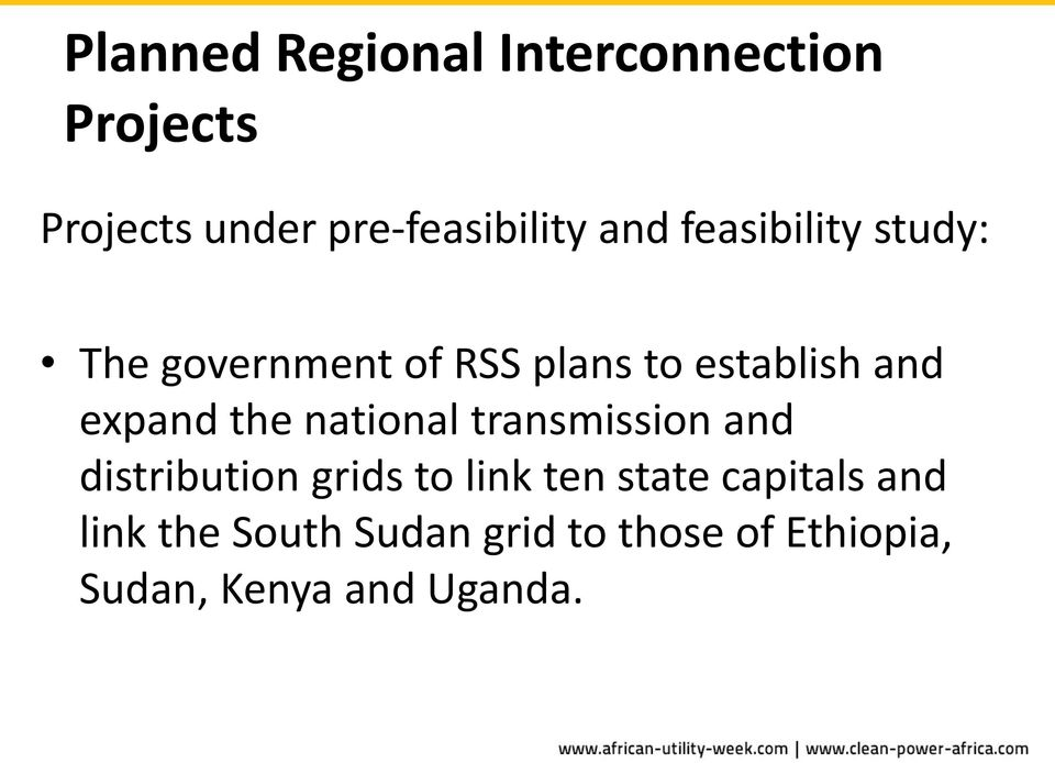 the national transmission and distribution grids to link ten state