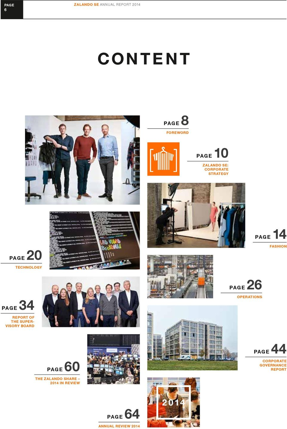 OPERATIONS REPORT OF THE SUPER- VISORY BOARD PAGE 60 THE ZALANDO SHARE 2014