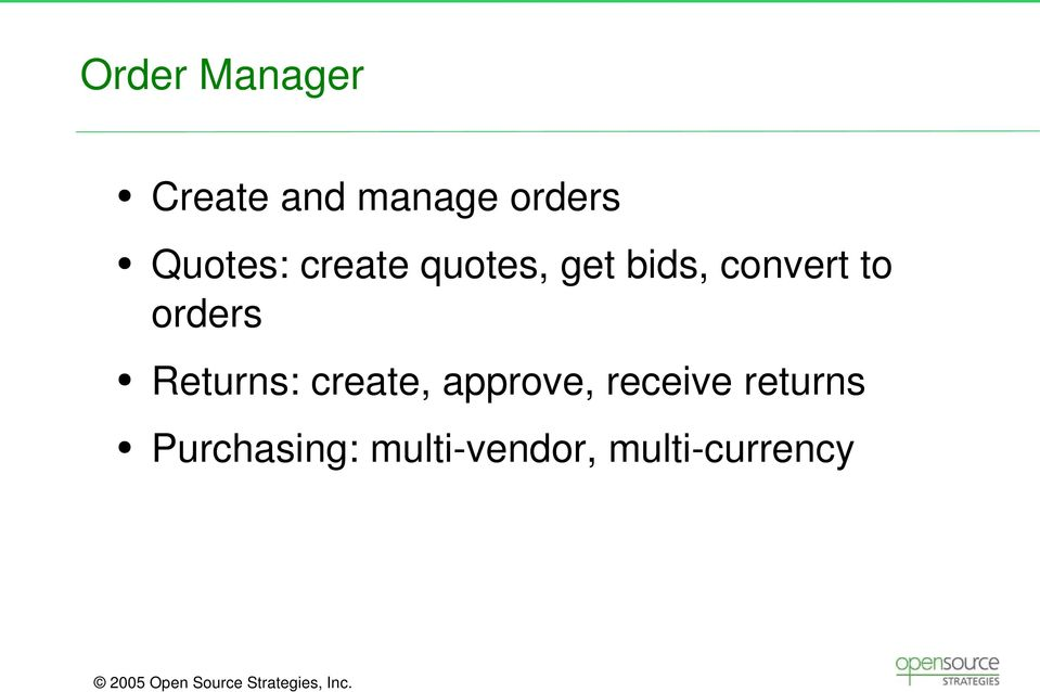 to orders Returns: create, approve,