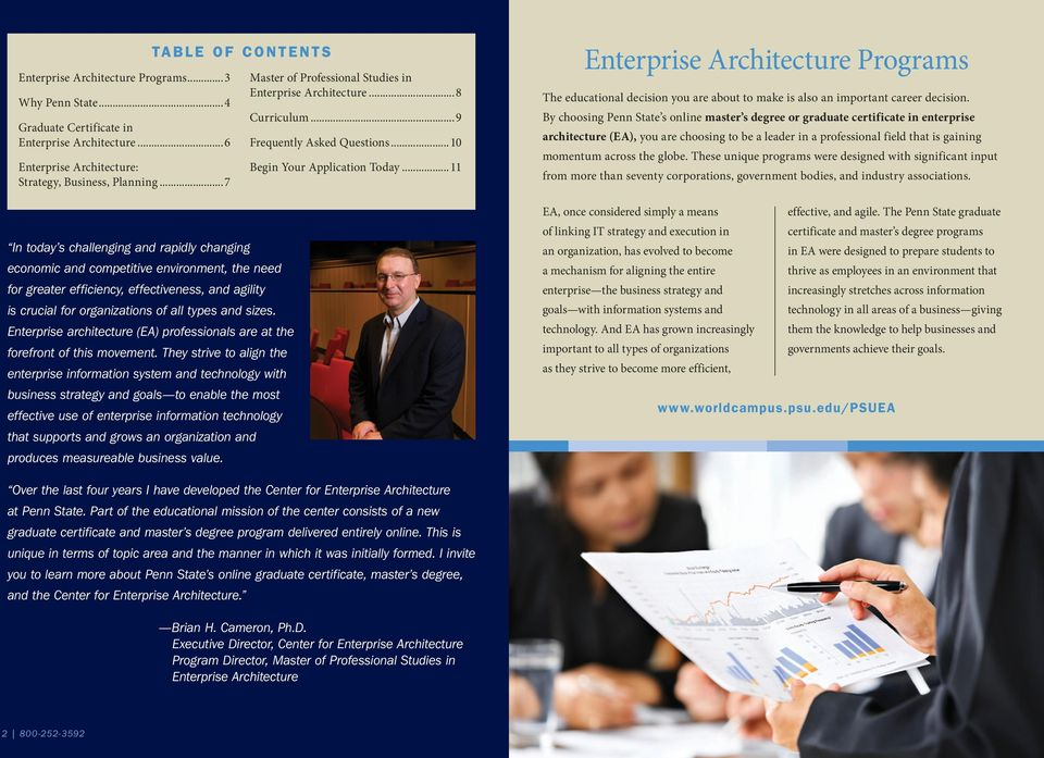 types and sizes. Enterprise architecture (EA) professionals are at the forefront of this movement.