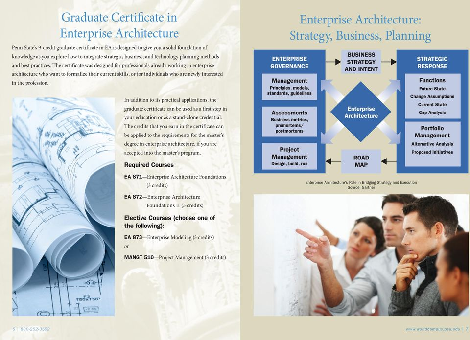 The certificate was designed for professionals already working in enterprise architecture who want to formalize their current skills, or for individuals who are newly interested in the profession.