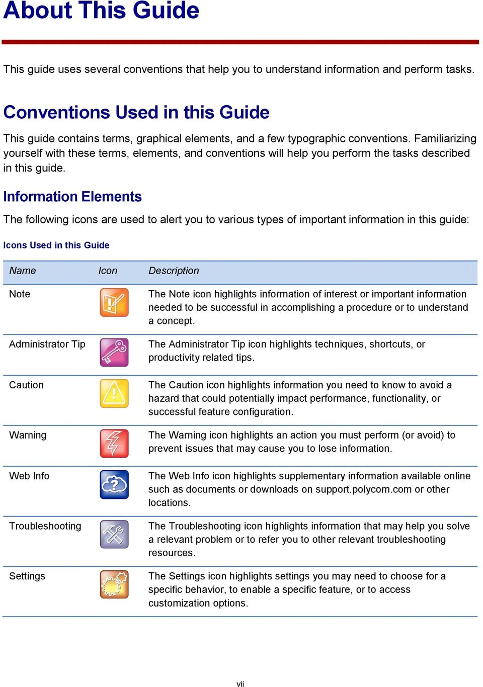 Familiarizing yourself with these terms, elements, and conventions will help you perform the tasks described in this guide.