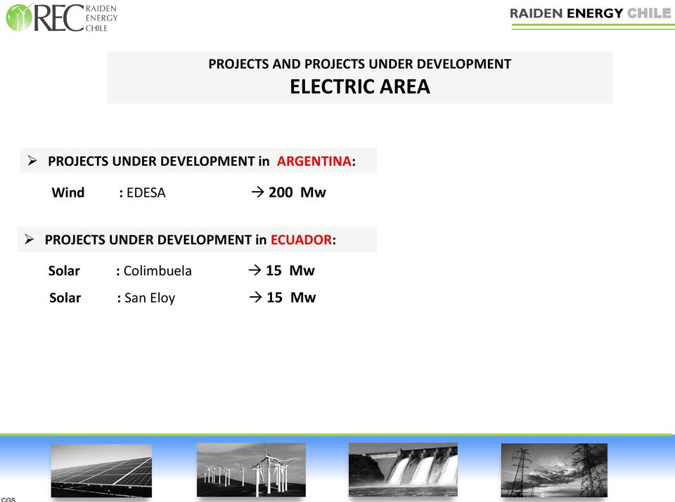 : EDESA 200 Mw PROJECTS UNDER DEVELOPMENT in