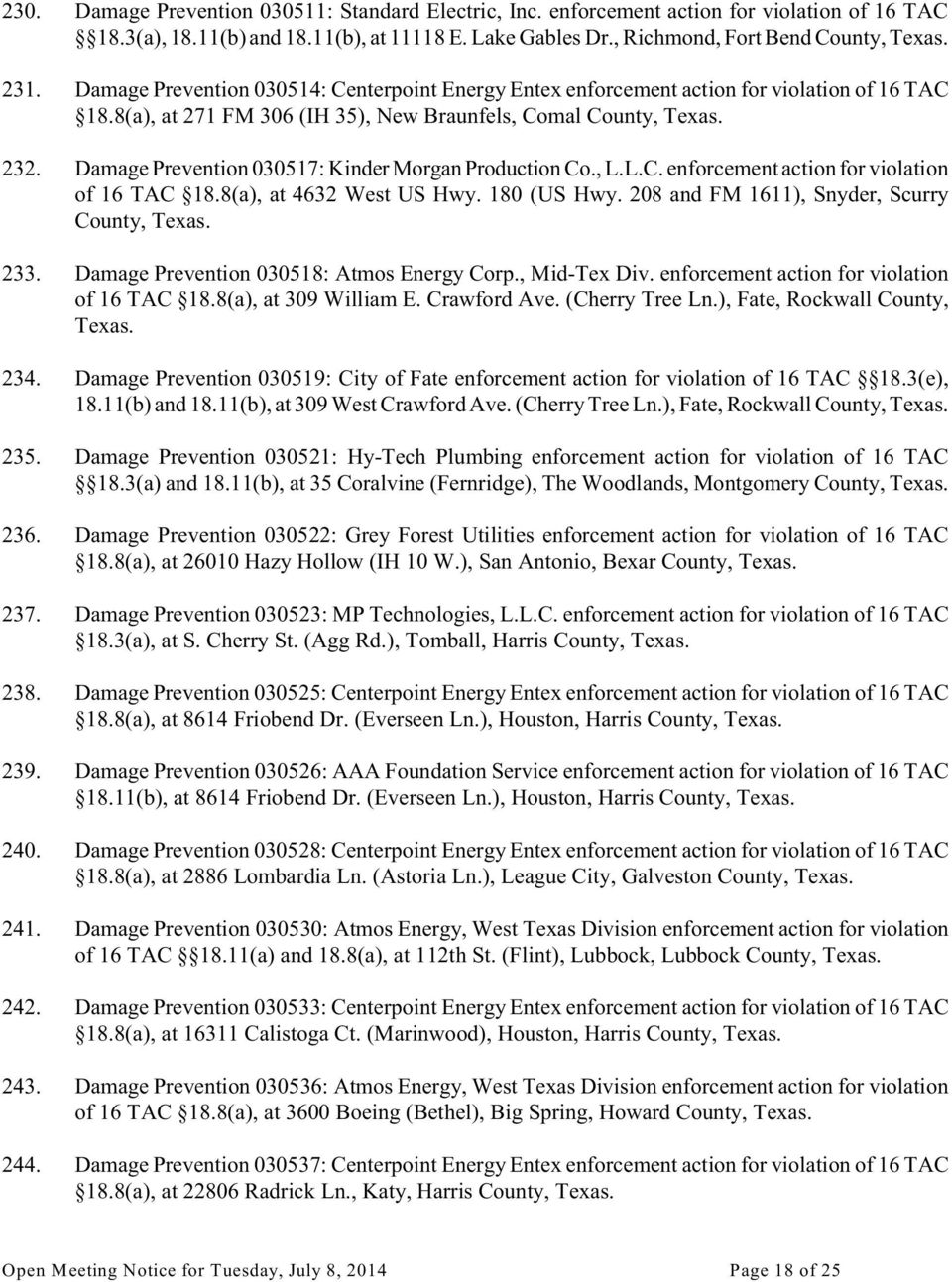 Notice Of Meeting Railroad Commission Of Texas Pdf