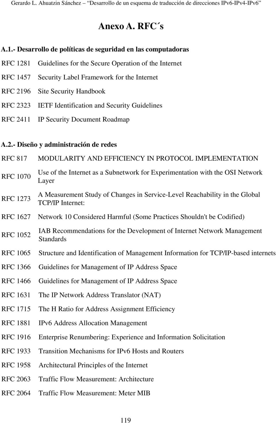 Site Security Handbook IETF Identification and Security Guidelines IP Security Document Roadmap A.2.