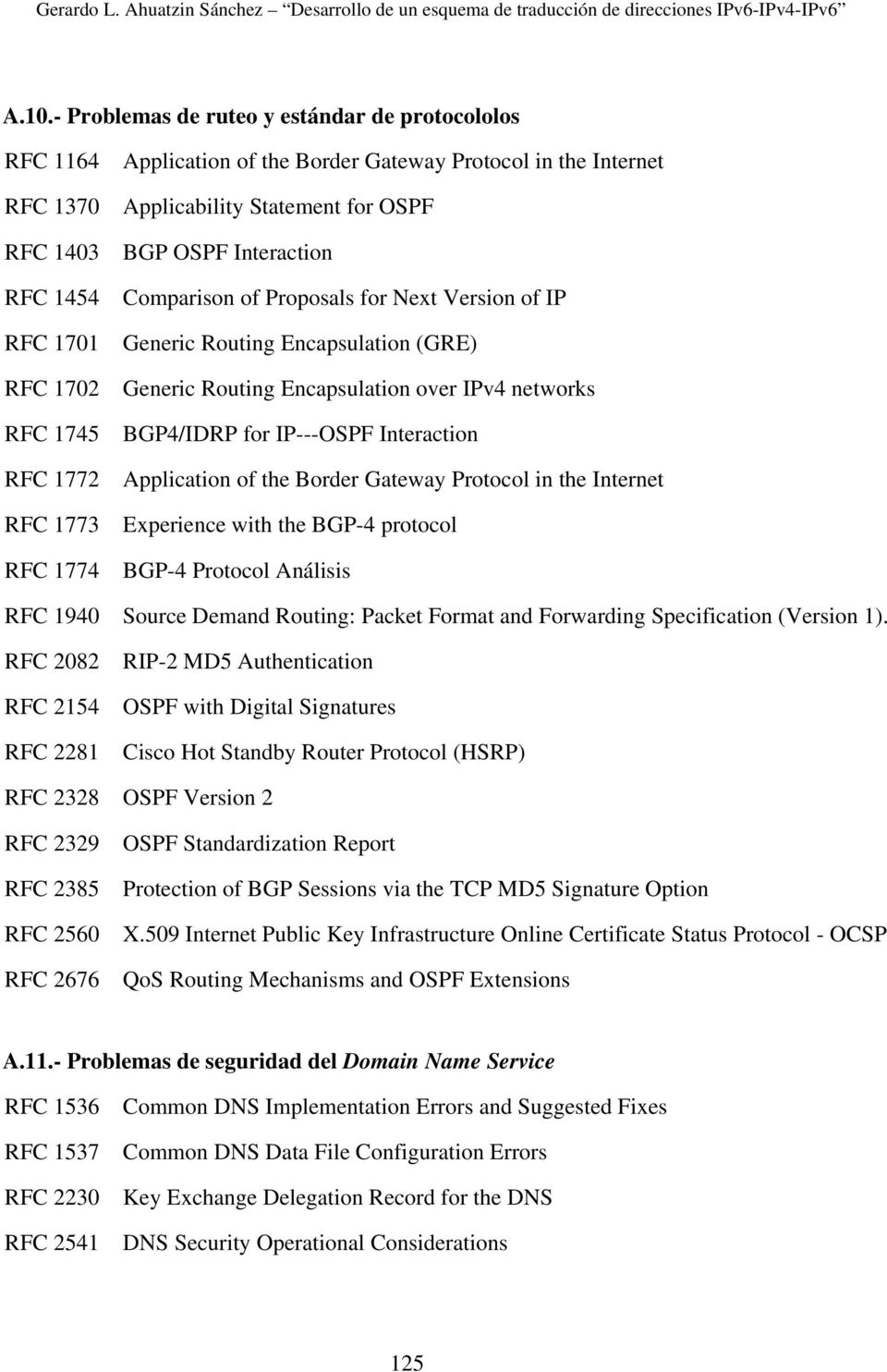 BGP4/IDRP for IP---OSPF Interaction Application of the Border Gateway Protocol in the Internet Experience with the BGP-4 protocol BGP-4 Protocol Análisis RFC 1940 Source Demand Routing: Packet Format