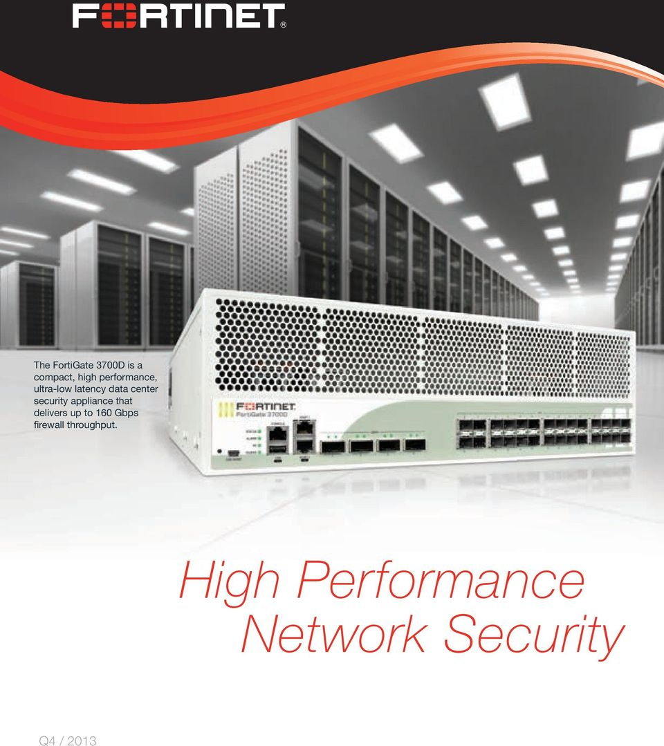 security appliance that delivers up to 160 Gbps