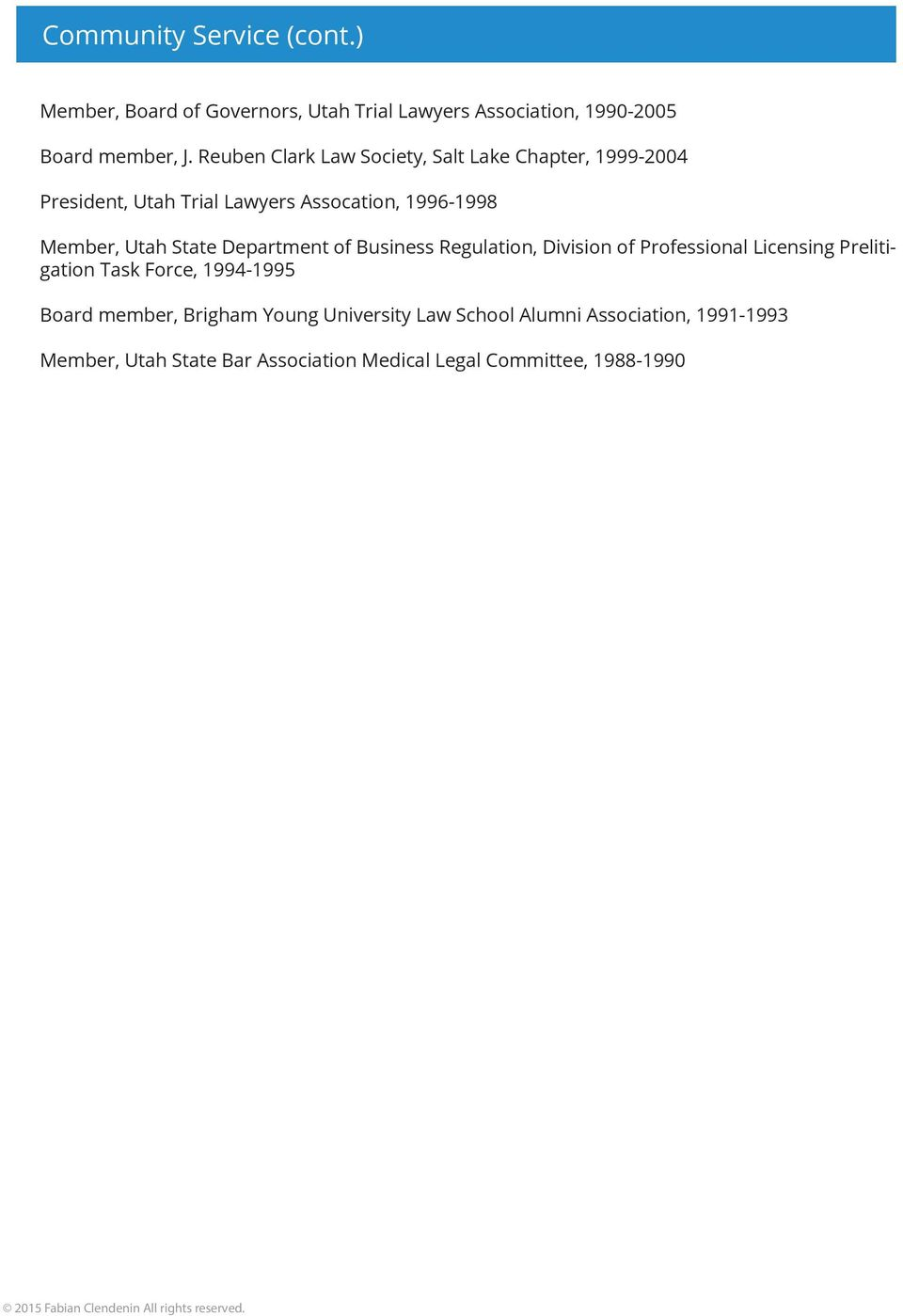 State Department of Business Regulation, Division of Professional Licensing Prelitigation Task Force, 1994-1995 Board