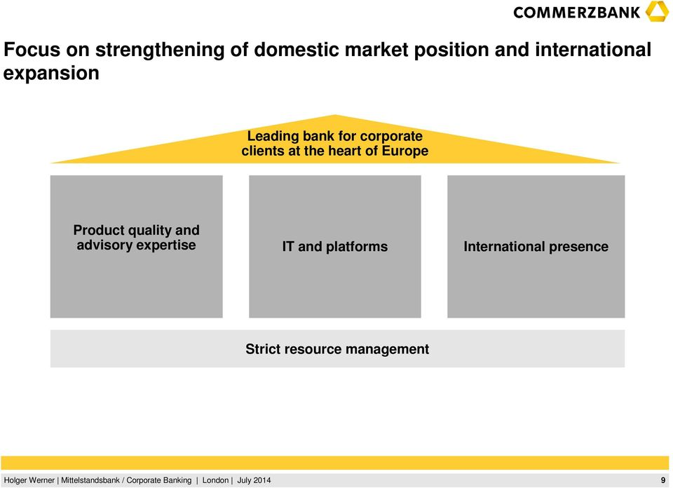 at the heart of Europe Product quality and advisory