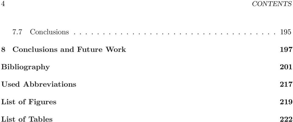 Conclusions and Future Work 197 Bibliography