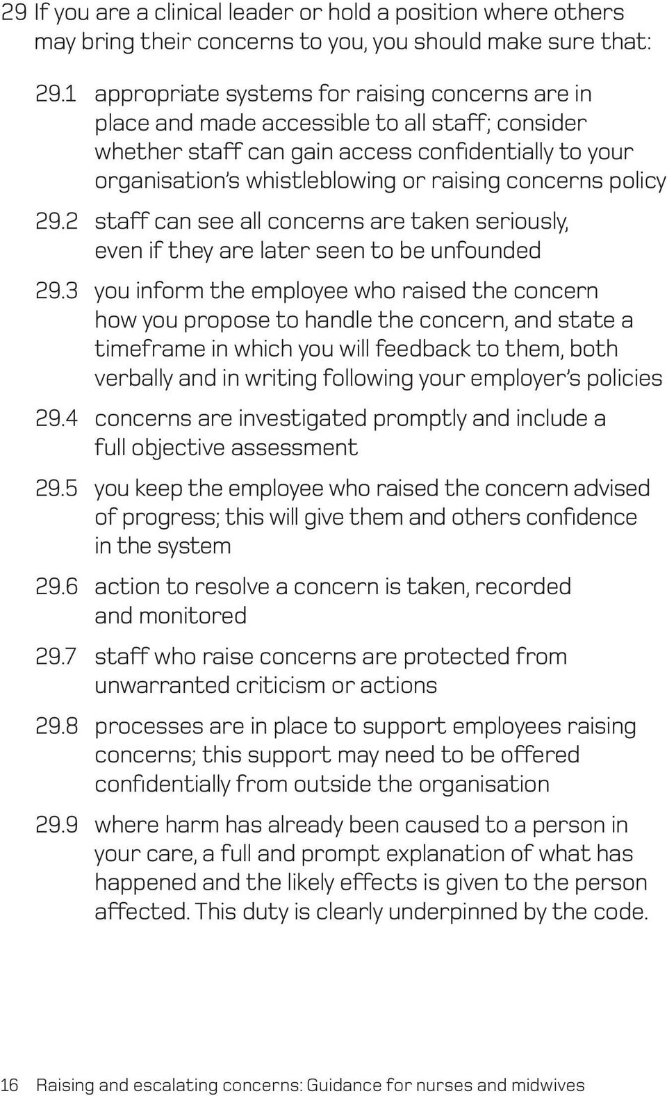 concerns policy 29.2 staff can see all concerns are taken seriously, even if they are later seen to be unfounded 29.