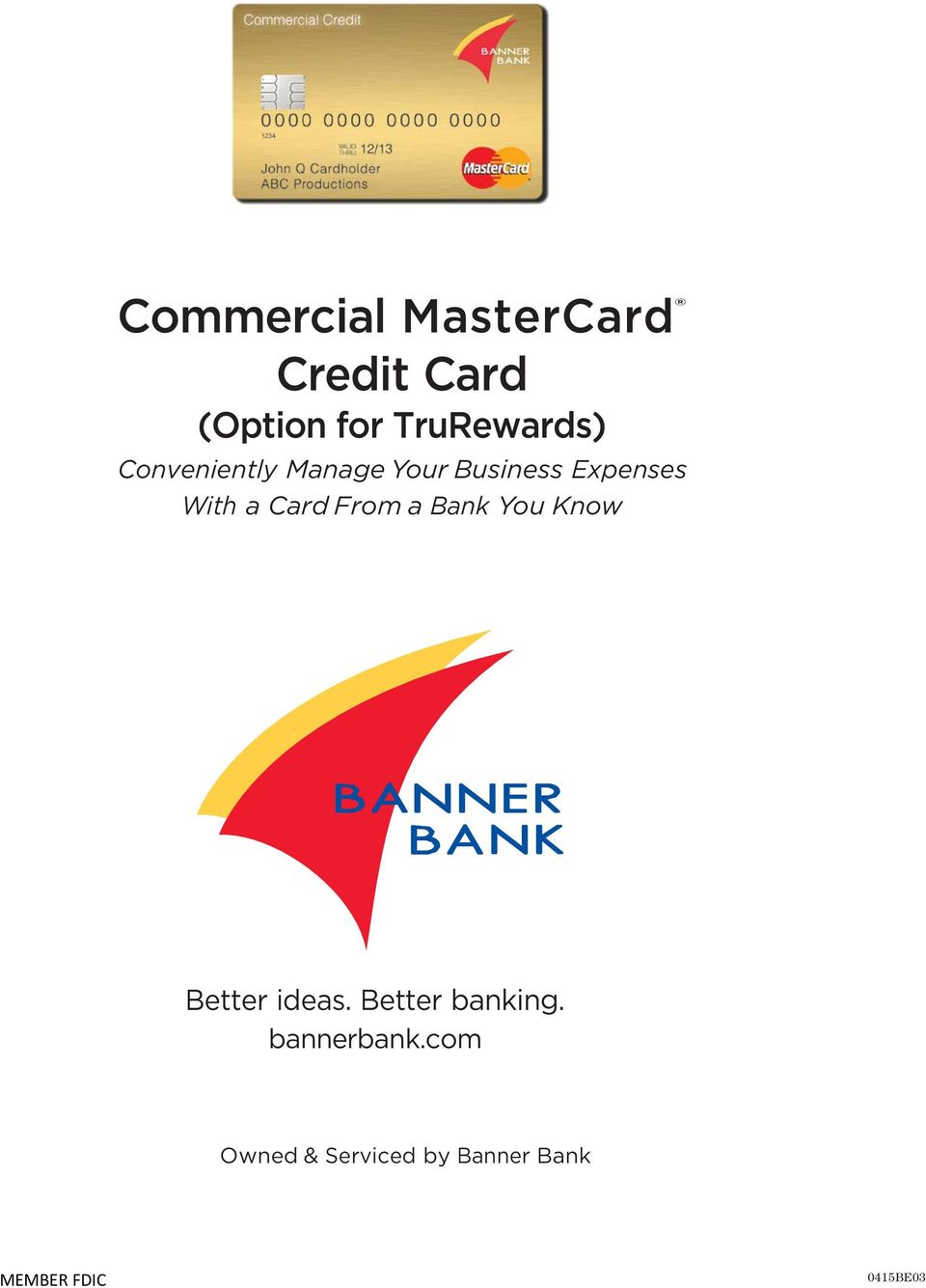 With a Card From a Bank You Know Better ideas.