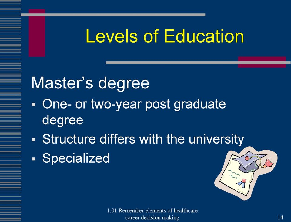 Structure differs with the university
