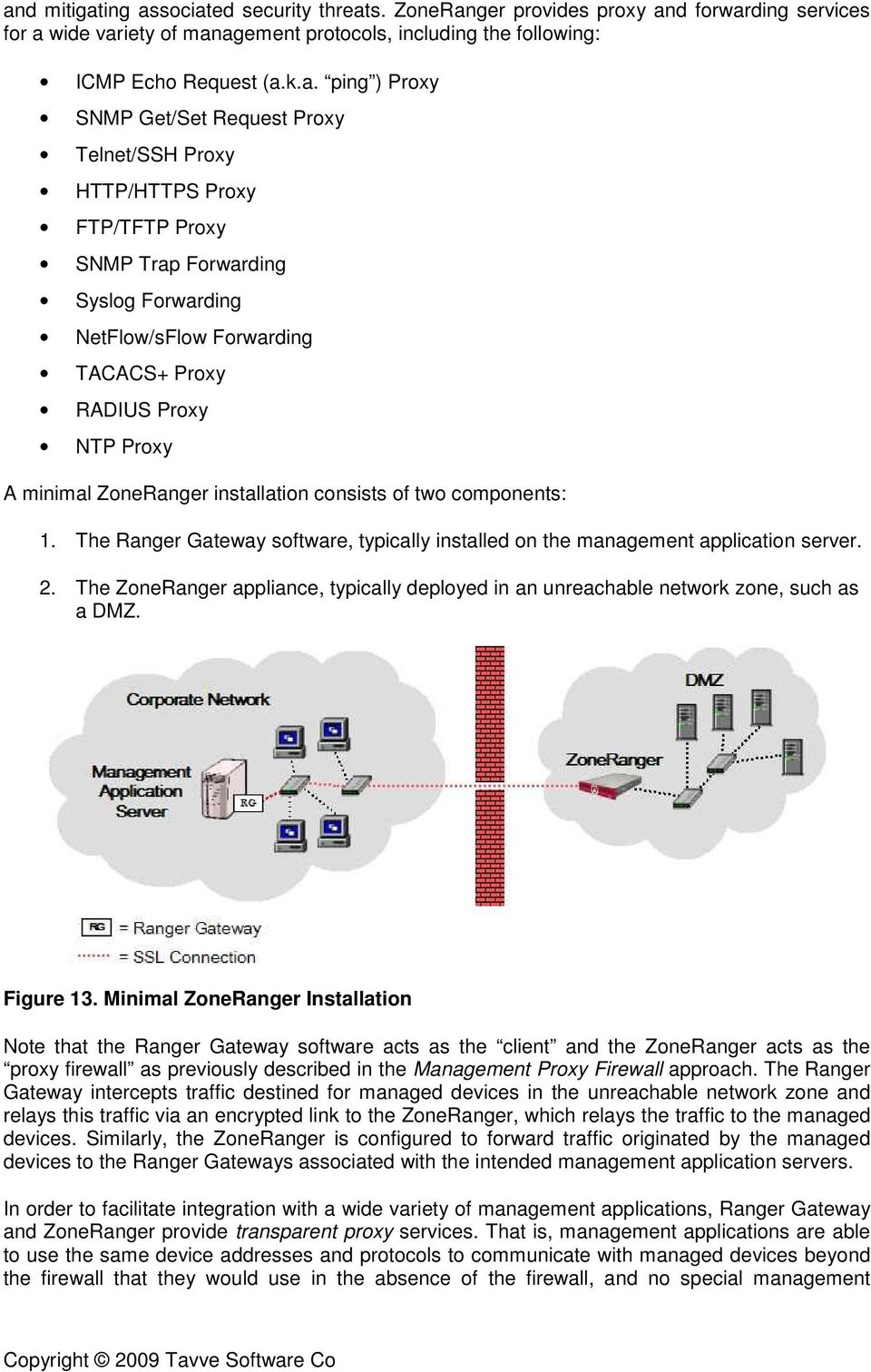 ZoneRanger installation consists of two components: 1. The Ranger Gateway software, typically installed on the management application server. 2.