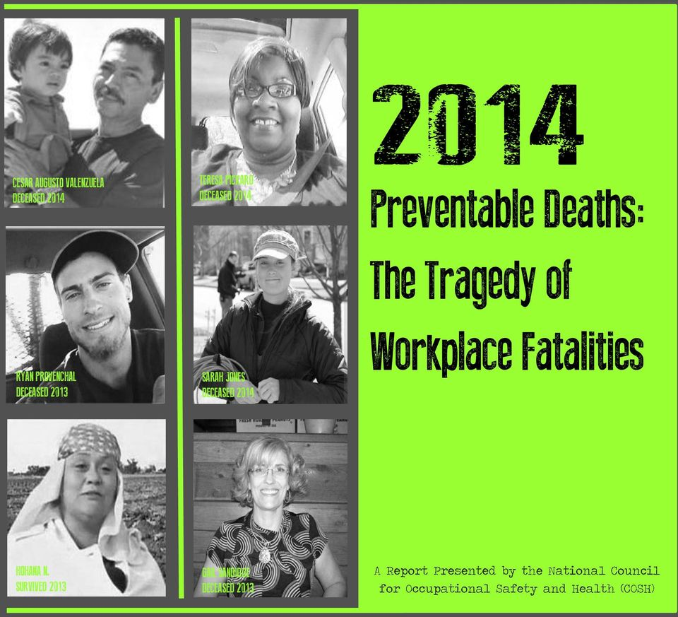 DECEASED 2014 2014 Preventable Deaths: The Tragedy of