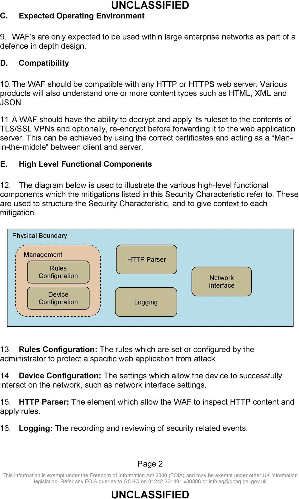 A WAF should have the ability to decrypt and apply its ruleset to the contents of TLS/SSL VPNs and optionally, re-encrypt before forwarding it to the web application server.