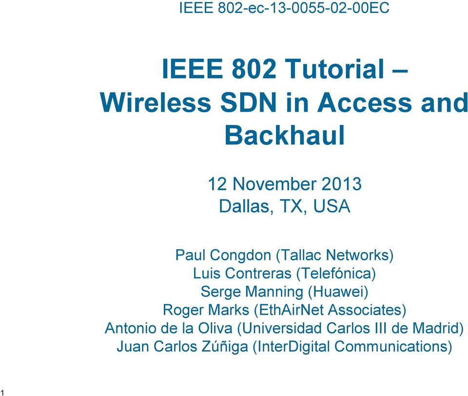 Ieee 802 tutorial wireless sdn in access and backhaul pdf for Ieee definition