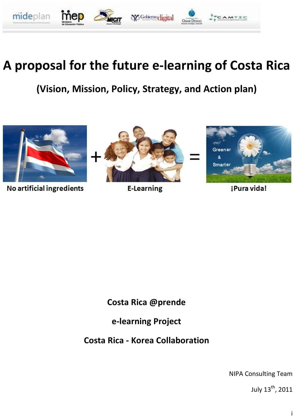 Costa Rica @prende e-learning Project Costa Rica -