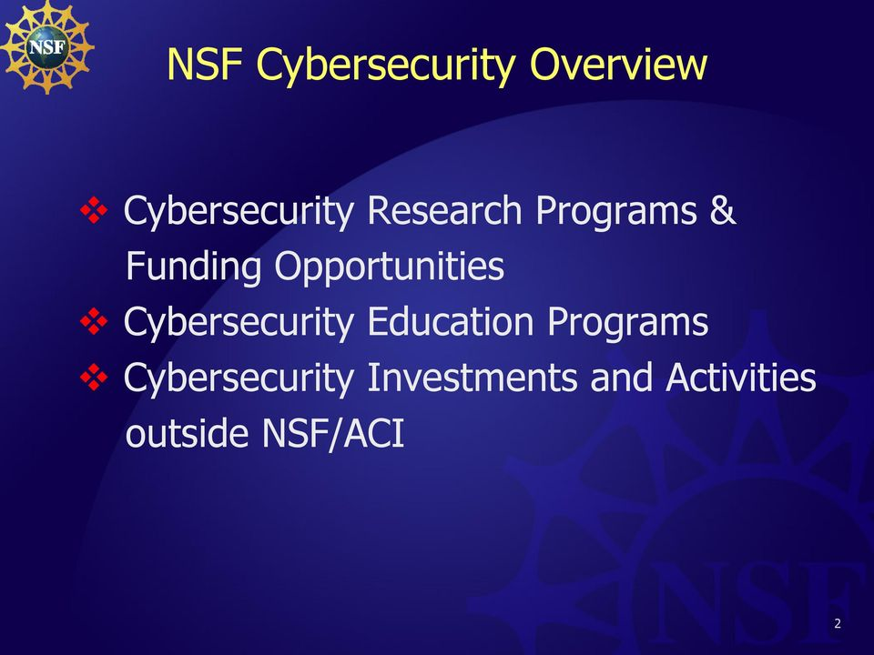 Cybersecurity Education Programs