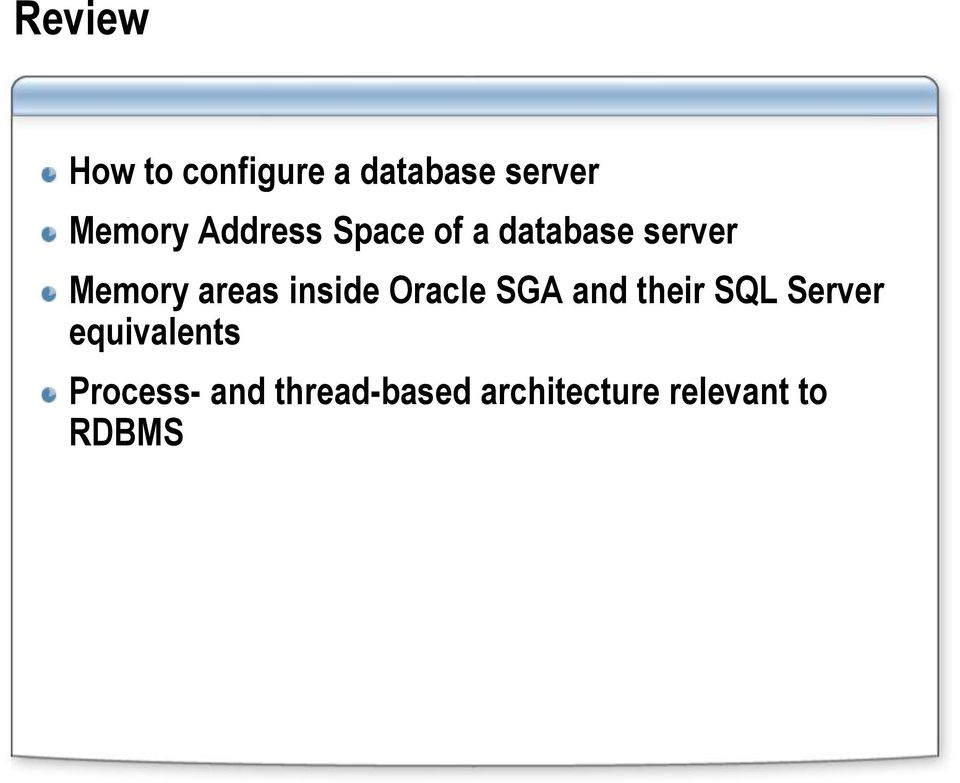 inside Oracle SGA and their SQL Server