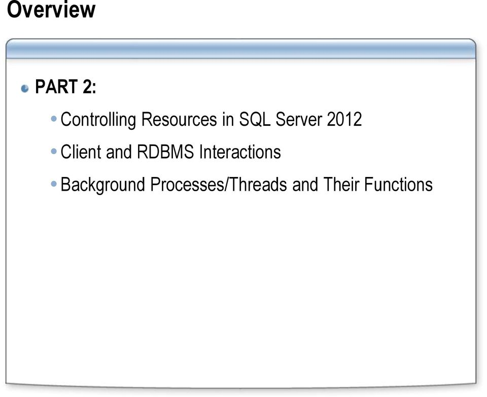 Client and RDBMS Interactions