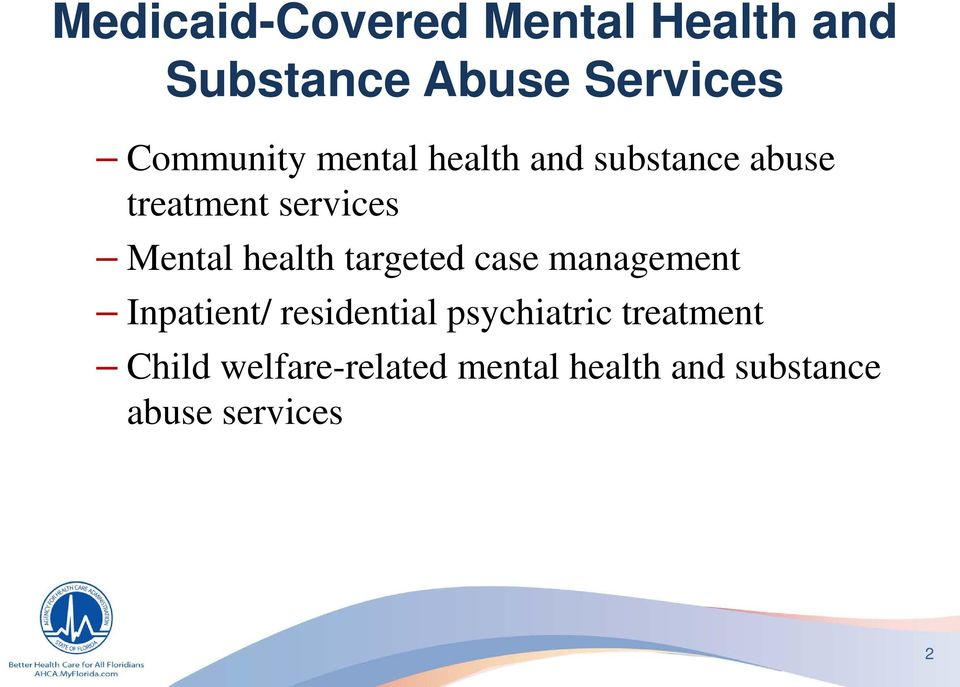 Mental health targeted case management Inpatient/ residential